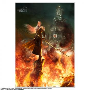 Final Fantasy VII Remake Wall Scroll - Sephiroth Burning Midgar