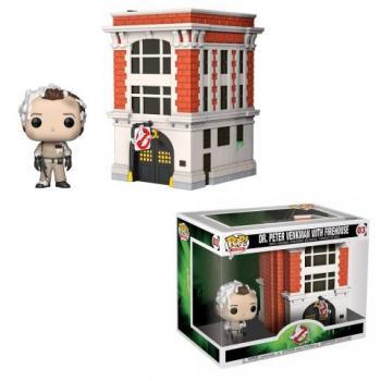 Ghostbusters POP! Town Figure - Peter & Firestation