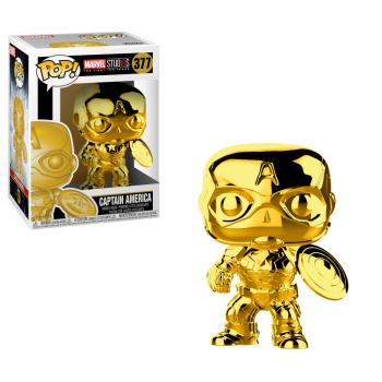 Marvel Studios 10th POP! Vinyl Figure - Captain America (Gold Chrome)