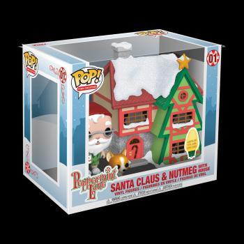Holiday POP! Town Vinyl Figure - Santa's House /w Santa & Nutmeg