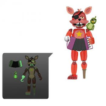 Five Nights At Freddy's Action Figure - Rockstar Foxy (TRL) (GITD)