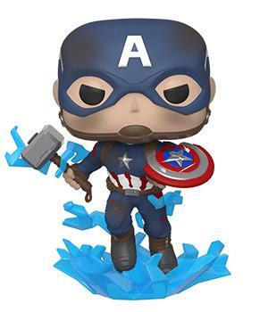 Avengers Endgame POP! Vinyl Figure - Captain America w/ Broken Shield & Mjolnir
