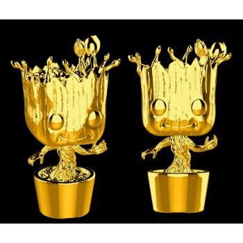 Marvel Studios 10th POP! Vinyl Figure - Groot (Gold Chrome)