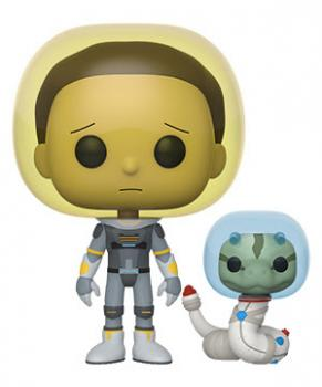 Rick and Morty POP! Vinyl Figure - Morty (Space Suit) w/ Snake