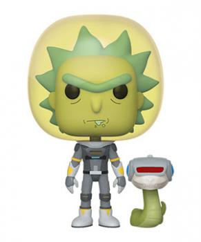 Rick and Morty POP! Vinyl Figure - Rick (Space Suit) w/ Snake