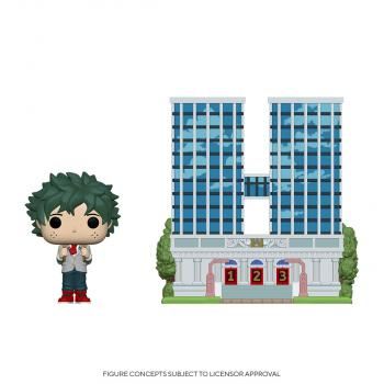 My Hero Academia POP! Town Vinyl Figure - Deku (School Uniform) and U.A. High School