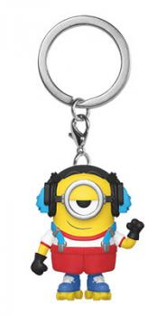 Minions Rise of Gru Pocket POP! Key Chain - Roller Skating Stuart Pocket Pop