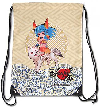 Okami Den Drawstring Backpack - Chibiterasu & Nanami Cinch