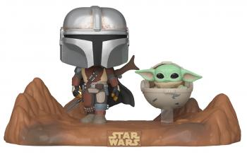 Star Wars: Mandalorian POP! Vinyl Figure - Mandalorian and the Child Movie Moments