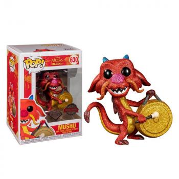 Mulan POP! Vinyl Figure - Mushu w/ Gong (Disney) (Diamond) (Special Edition)