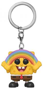 SpongeBob SquarePants Pocket POP! Key Chain - SpongeBob w/ Rainbow (Special Edition)