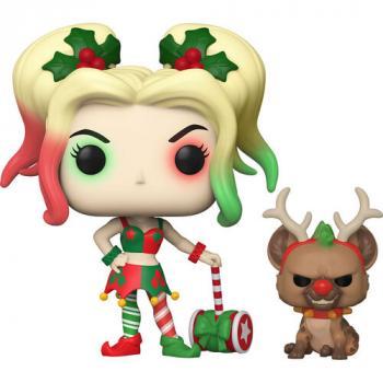 DC Comics Holiday POP! Vinyl Figure - Harley Quinn w/ Red Nose Helper