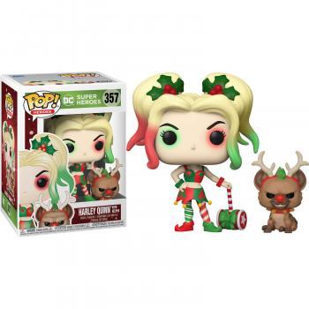 DC Comics Holiday POP! Vinyl Figure - Harley Quinn w/ Red Nose Helper [COLLECTOR]