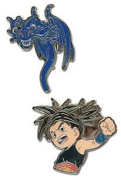 Blue Dragon Pins - Shu and Blue Dragon (Set of 2)