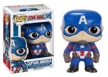 Civil War Captain America 3 POP! Bobble Head Vinyl Figure - Captain America
