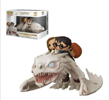 Harry Potter POP! Ride Vinyl Figure - Harry, Ron and Hermione w/ Gringott's Dragon