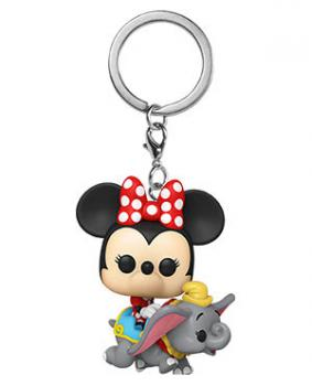 Disney 65th Anniversary Pocket POP! Key Chain -  Minnie w/ Flying Dumbo Ride