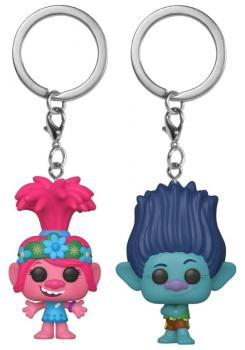 Trolls World Tour POP! Key Chain - Poppy and Branch (Set of 2) (Special Edition)