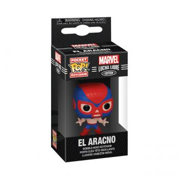Spider-Man Pocket POP! Key Chain - El Aracno (Spiderman) (Marvel Lucha Libre Edition)