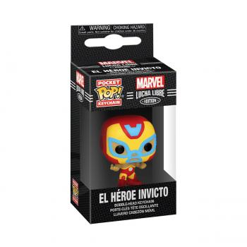 Iron Man Pocket POP! Key Chain - El Heroe Invicto (Iron Man) (Marvel Lucha Libre Edition)