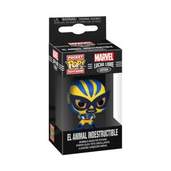 Wolverine Pocket POP! Key Chain - El Animal Indestructible  (Wolverine) (Marvel Lucha Libre Edition)