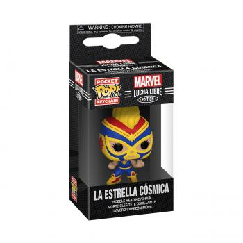 Captain Marvel Pocket POP! Key Chain - La Estrella Cosmica (Captain Marvel) (Marvel Lucha Libre Edition)