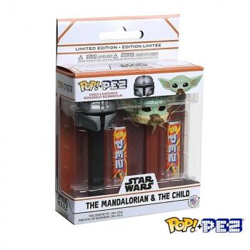 Star Wars: Mandalorian POP! Pez - Mandalorian & Grogu w/ Frog (The Child)