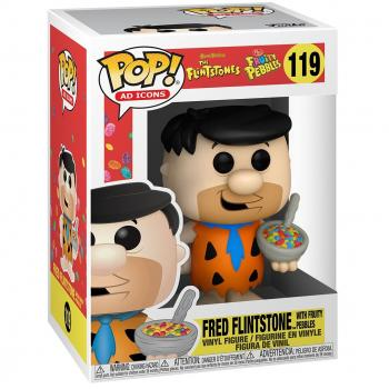 Flintstones Ad Icons POP! Vinyl Figure - Fred w/ Fruity Pebbles Cereal  [STANDARD]
