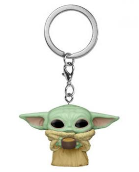 Star Wars: Mandalorian Pocket POP! Key Chain - The Child with Cup