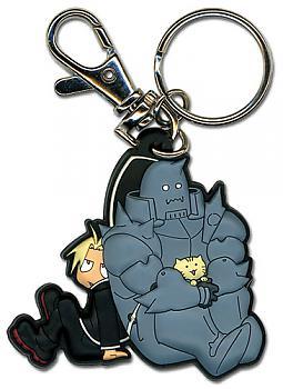 Fullmetal Alchemist Brotherhood Key Chain - Ed and Al Sitting