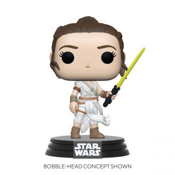 Star Wars: Rise of Skywalker POP! Vinyl Figure - Rey w/ Yellow Saber  [COLLECTOR]