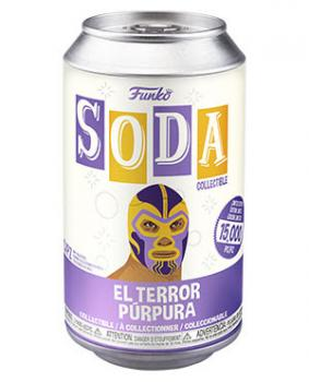 Luchadores Vinyl Soda Figure - El Terror Purpura (Thanos) (Marvel) (Limited Edition: 15,000 PCS)