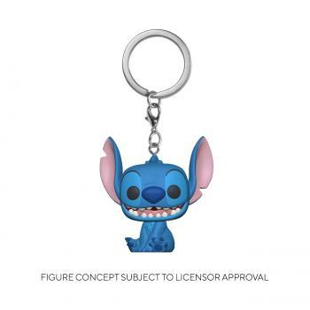 Lilo & Stitch Pocket POP! Key Chain - Smiling Seated Stitch (Disney)
