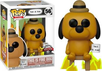 POP Icons POP! Vinyl Figure - This is Fine Dog  (Special Edition)