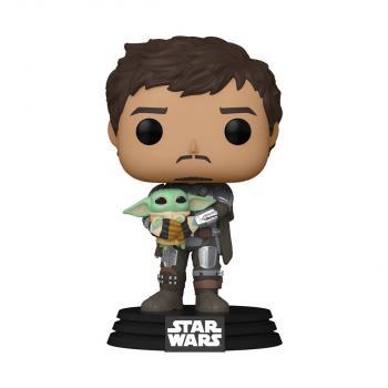 Star Wars: Mandalorian POP! Vinyl Figure - Mando Holding Child  [COLLECTOR]