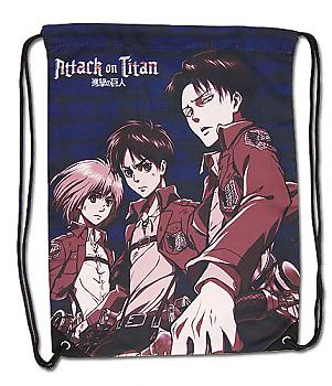 Attack on Titan Drawstring Backpack - Armin, Eren & Levi