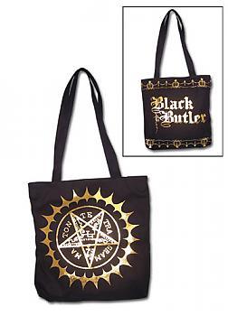Black Butler Tote Bag - Pentacle Mark
