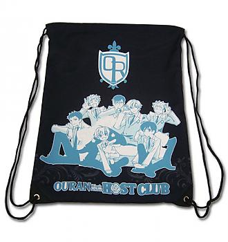 Ouran High School Drawstring Backpack - Group Black