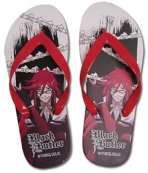 Black Butler Flip Flop Slippers - Grell