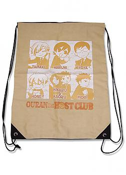 Ouran High School Drawstring Backpack - Group
