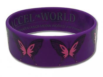 Accel World Wristband - Kuroyukihime Butterfly