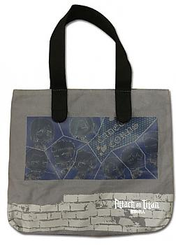 Attack on Titan Tote Bag - 104th Cadet Corps SD Characters