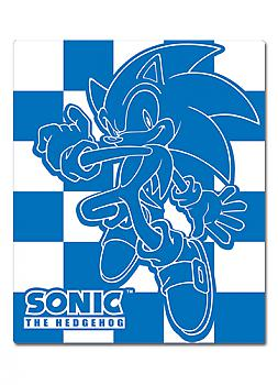 Sonic Blanket - Sonic Blue Checked