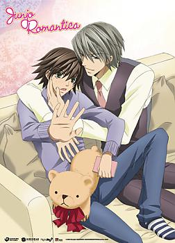Junjo Romantica Wall Scroll - Misaki and Akihiko Shy Caress