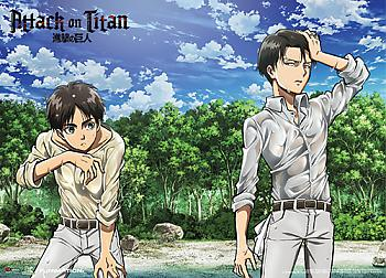 Attack on Titan Wall Scroll - Eren & Levi on Shore [LONG]