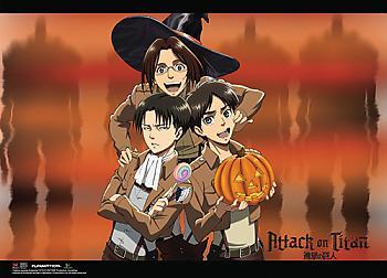 Attack on Titan Wall Scroll - Levi, Hanji Aoe & Eren Halloween