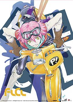 FLCL Wall Scroll - Haruko with Vespa