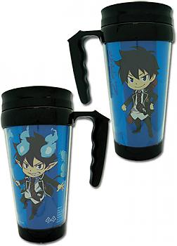 Blue Exorcist Tumbler Mug with Handle - Rin