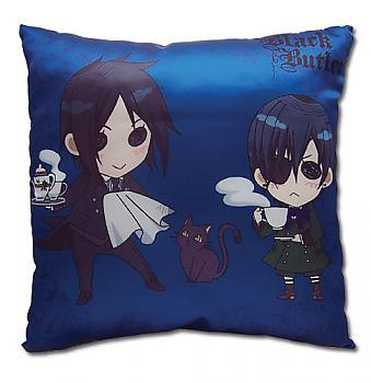 Black Butler Pillow - SD Sebastian & Grell