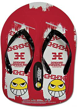Deadman Wonderland Flip Flop Slippers- Smile Face & Chain RED (Size 28C)